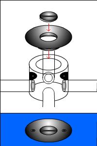 配管のフタの種類(丸穴タイプ その2)