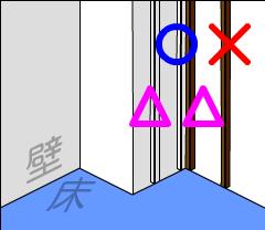 壁にモールを貼るときは部屋の角など、端の方に貼るのが望ましい
