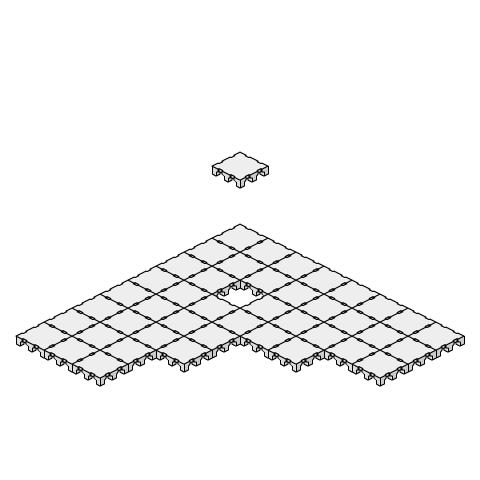 置敷式OAフロア(簡易二重床タイプ その1)