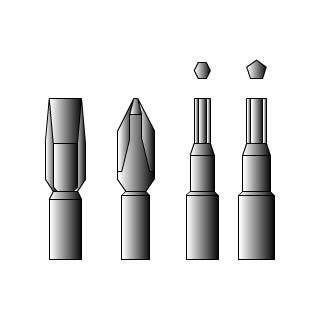 各種ドライバー(プラス、マイナス、星型、六角型)