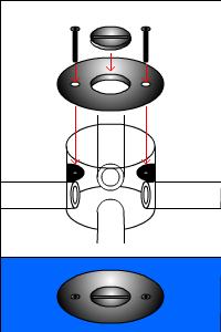 配管のフタの種類(丸穴タイプ)