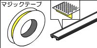 タイルカーペットや絨毯にモールを貼る場合はマジックテープを用意しよう